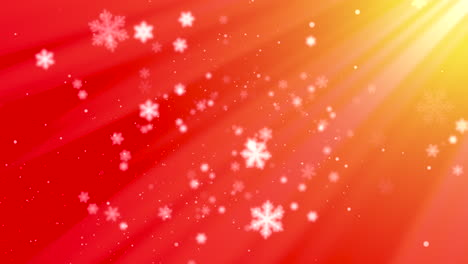 White-snowflakes-and-abstract-bokeh-particles-falling-1