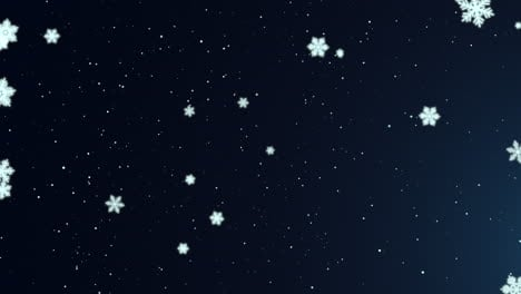 White-snowflakes-and-stars-and-abstract-bokeh-particle-1