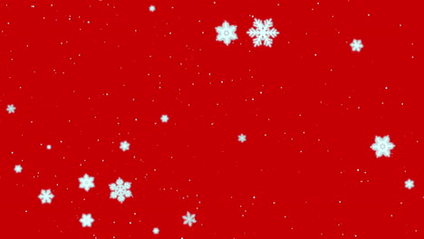 White-snowflakes-and-stars-and-abstract-bokeh-particle-2