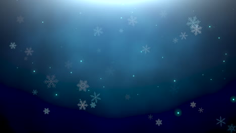 White-snowflakes-and-abstract-bokeh-particles-falling-3