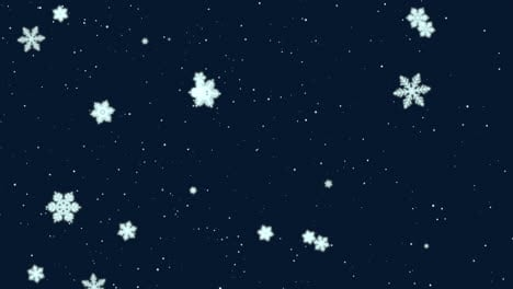 White-snowflakes-and-stars-and-abstract-bokeh-particle-4