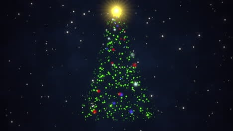 Animated-closeup-Christmas-tree-on-dark-blue-background-3