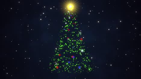 Primer-Plano-Animado-árbol-De-Navidad-Sobre-Fondo-Azul-Oscuro-3