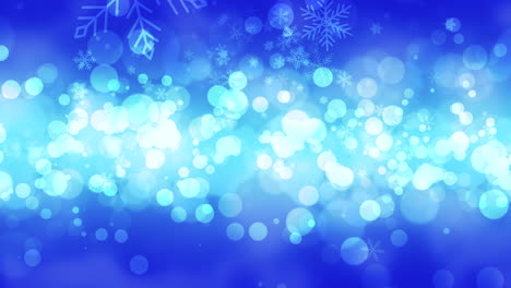 Blue-bokeh-and-snowflakes-falling-with-Happy-New-Year-and-Merry-Christmas