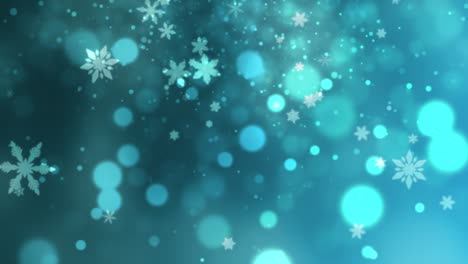 White-snowflakes-and-stars-and-abstract-bokeh-particles-falling