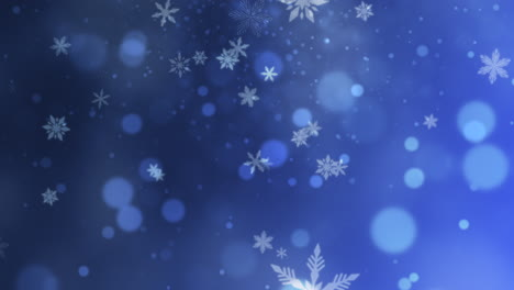 Abstract-purple-bokeh-and-snowflake-falling-1