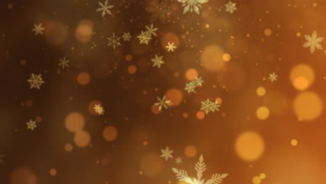 Abstract-bokeh-and-snowflake-falling-Happy-New-Year