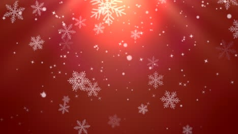 White-snowflakes-and-stars-and-abstract-bokeh-particles-falling-2