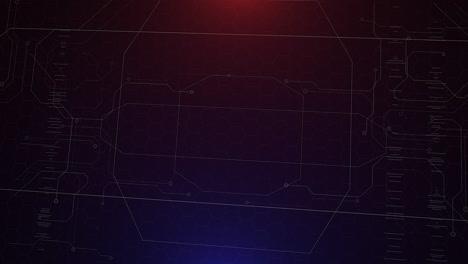 Animación-Cyberpunk-Con-Matriz-De-Computadora-Y-Cuadrícula
