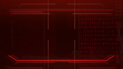 Cyberpunk-animation-background-with-computer-matrixwith-numbers-and-grid