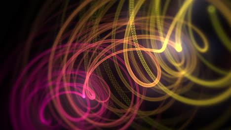 Movimiento-Líneas-Rojas-Y-Amarillas-Con-Fondo-Abstracto