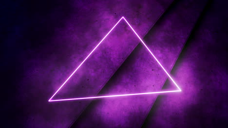 Motion-colorful-neón-lights-and-triangle-with-abstract-background