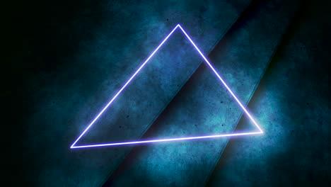 Movimiento-De-Luces-De-Neón-De-Colores-Y-Triángulo-Con-Fondo-Abstracto-4