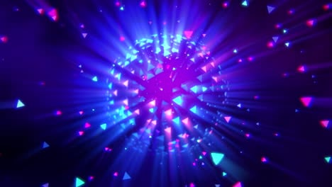 Motion-colorful-disco-ball