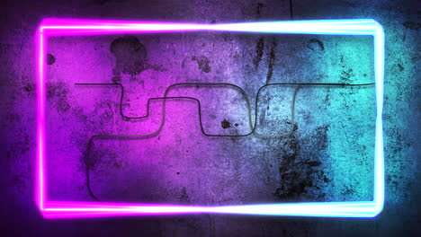Motion-colorful-neon-lights-on-wall-with-abstract-background-8
