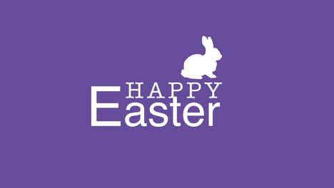 Happy-Easter-text-and-rabbit-on-purple-background