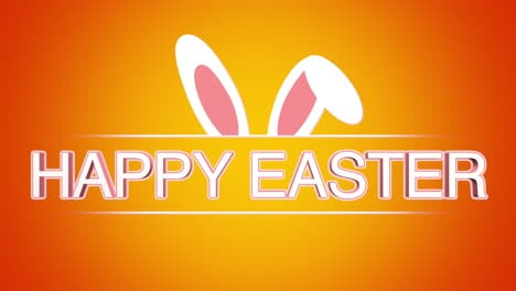 Happy-Easter-text-and-rabbit-on-orange-background-1