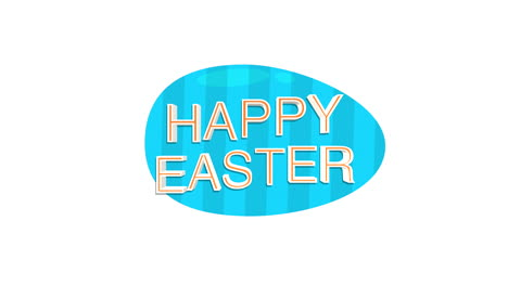 Happy-Easter-text-and-egg-on-white-background