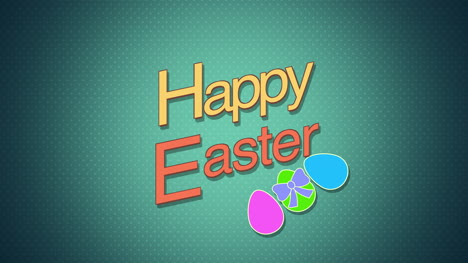 Happy-Easter-text-and-eggs-on-green-background-1