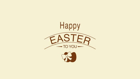 Happy-Easter-text-and-eggs-on-brown-background