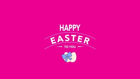 Happy-Easter-text-and-eggs-on-pink-background