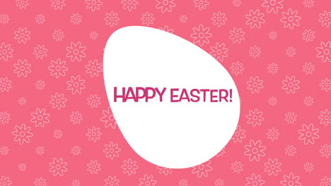 Happy-Easter-text-and-egg-on-red-background