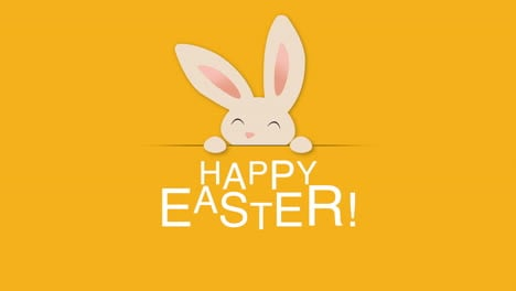 Happy-Easter-text-and-rabbit-on-orange-background-2