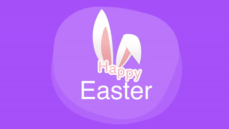 Happy-Easter-text-and-rabbit-on-purple-background-3