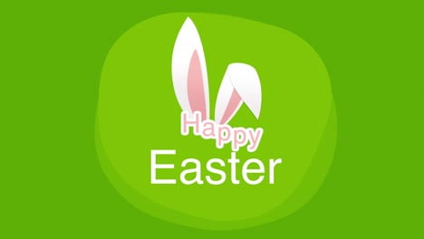 Happy-Easter-text-and-rabbit-on-green-background-3