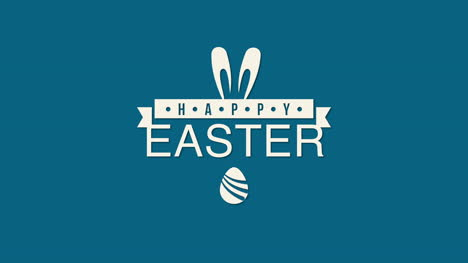 Happy-Easter-text-and-egg-on-blue-background-3
