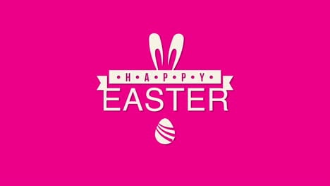 Happy-Easter-text-and-egg-on-red-background-3