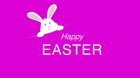 Happy-Easter-text-and-rabbit-on-pink-background-1