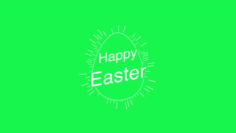 Happy-Easter-text-and-egg-on-green-background-3