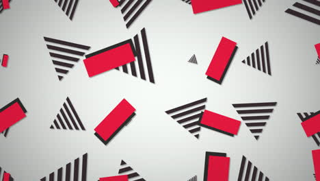 Motion-retro-geometric-shape-on-abstract-background