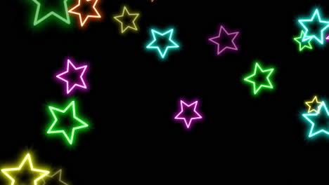 Movimiento-Retro-Estrellas-Sobre-Fondo-Abstracto-2
