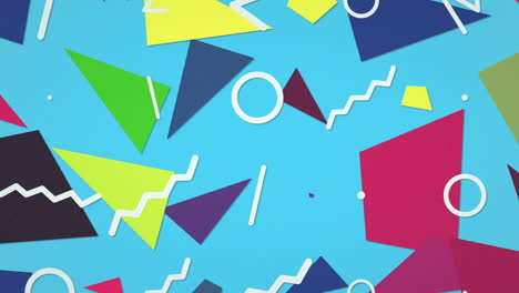 Motion-retro-geometric-shape-on-abstract-background-6