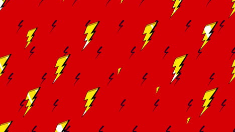 Motion-retro-thunderbolt-on-abstract-background-2