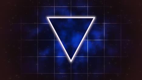 Movimiento-Retro-Triángulo-Azul-Sobre-Fondo-Abstracto