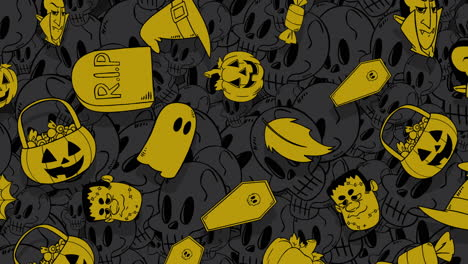 Halloween-background-animation-with-pumpkins-3