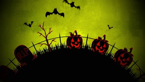 Halloween-background-animation-with-coffins-2
