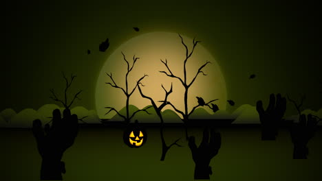 Halloween-background-animation-with-pumpkins-4