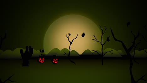 Halloween-background-animation-with-pumpkins-5