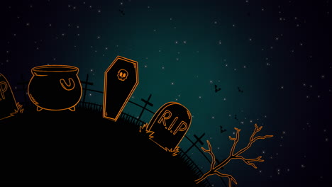 Halloween-background-animation-with-coffins-5