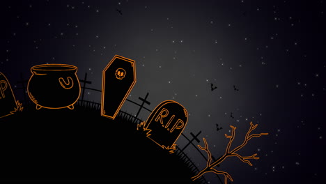 Halloween-background-animation-with-coffins-7