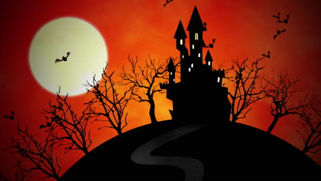 Halloween-background-animation-with-castle-and-moon-1