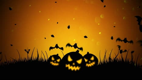 Halloween-background-animation-with-bats-and-pumpkins-1