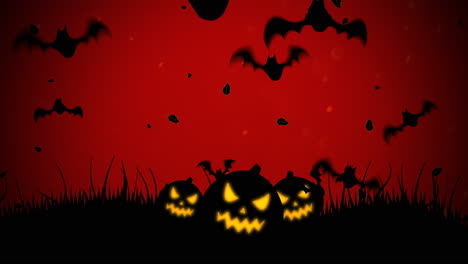 Halloween-background-animation-with-bats-and-pumpkins-3