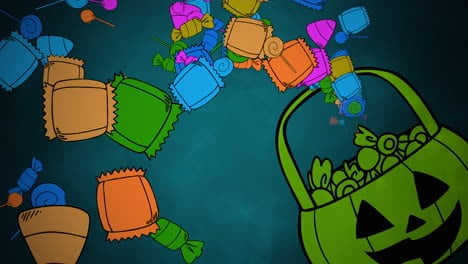 Halloween-background-animation-with-candy-basket