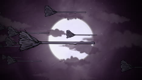 Halloween-background-animation-with-witch-brooms-and-moon