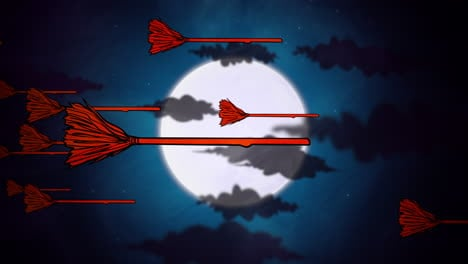 Halloween-background-animation-with-witch-brooms-and-moon-1